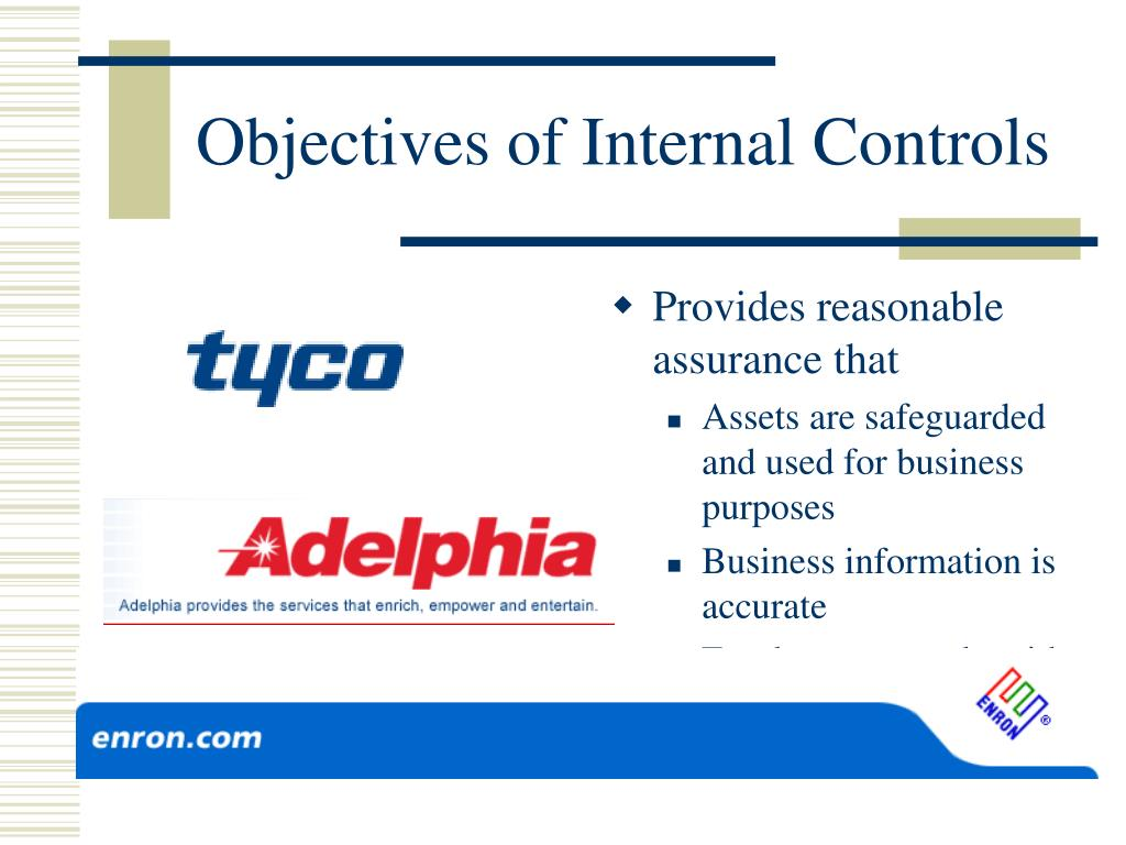 Objectives of Internal Controls