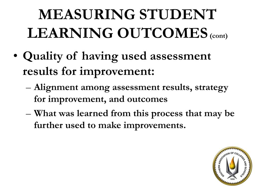 Quality of having used assessment results for improvement: