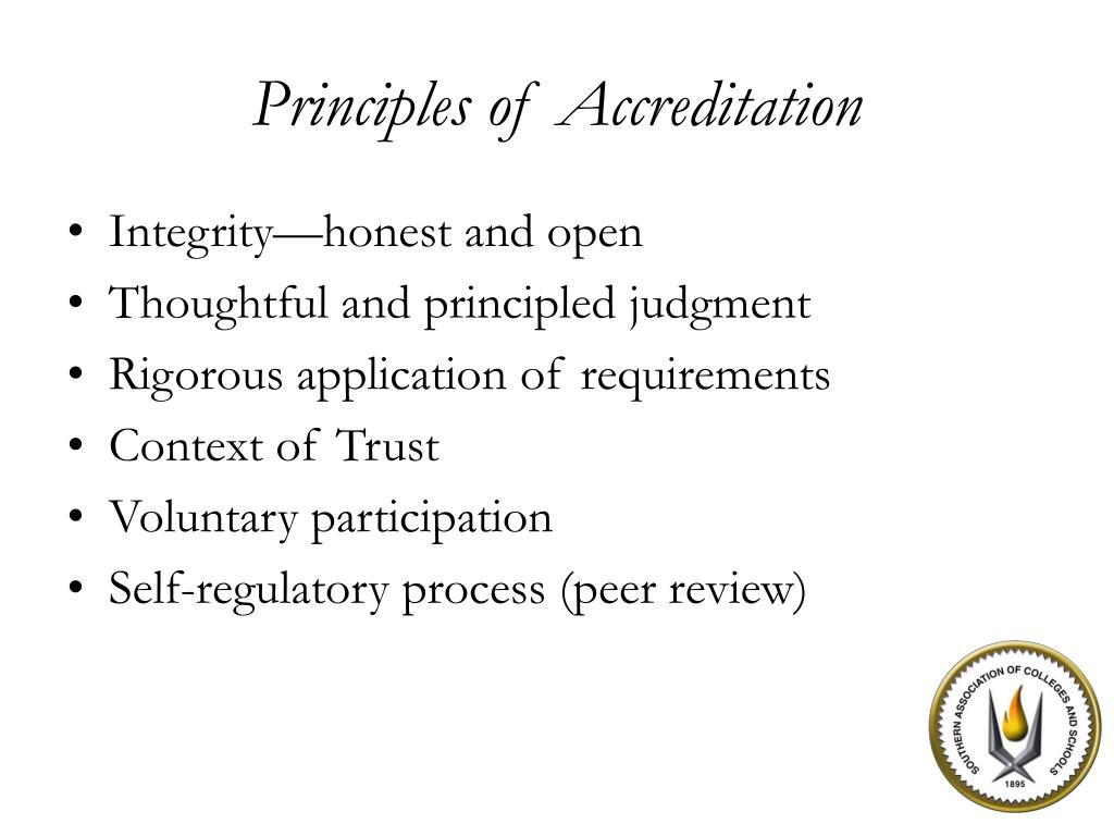 Principles of Accreditation