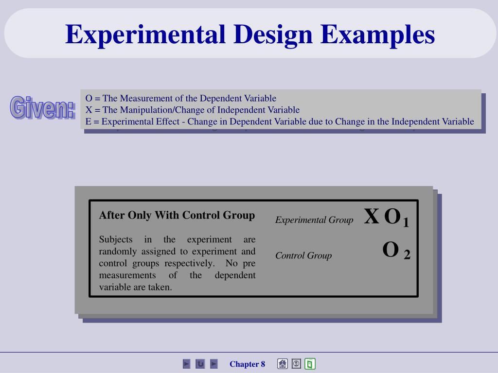 Experimental Design Examples