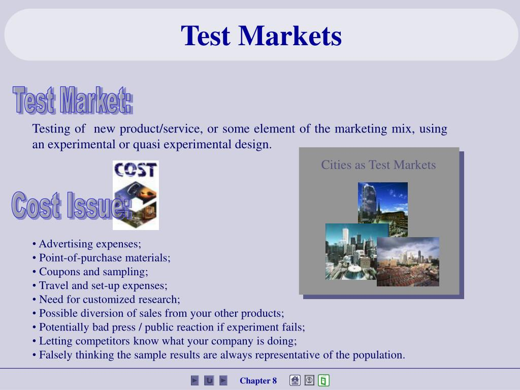 Cities as Test Markets
