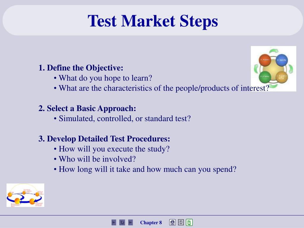 Test Market Steps