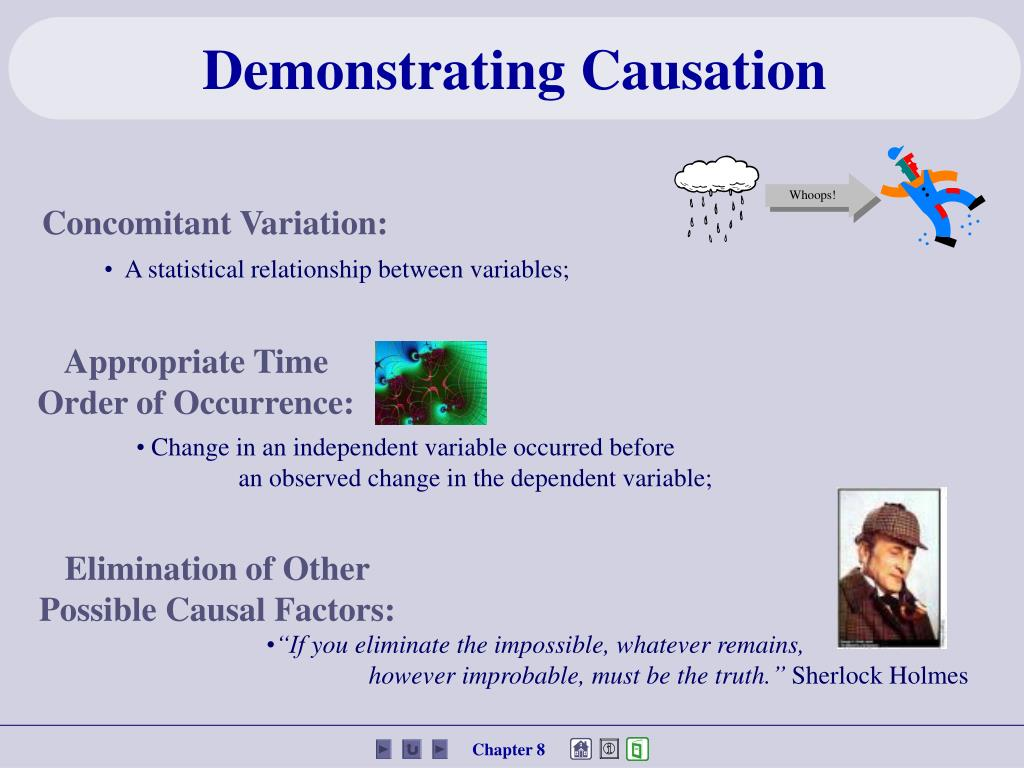 Demonstrating Causation