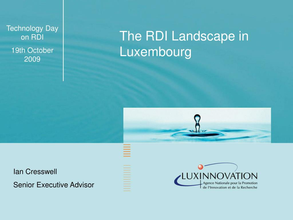 The RDI Landscape in Luxembourg