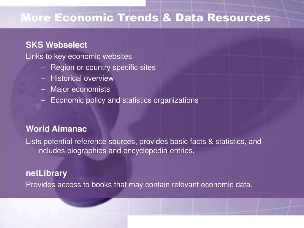 More Economic Trends & Data Resources