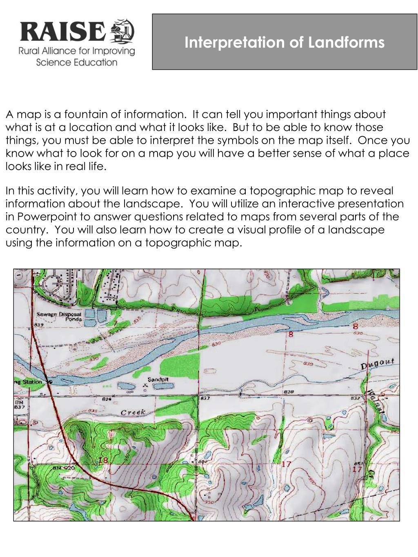 Interpretation of Landforms