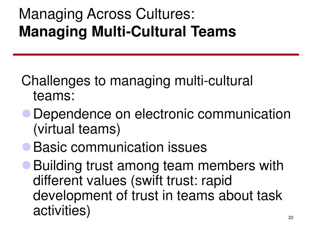 Managing Across Cultures: