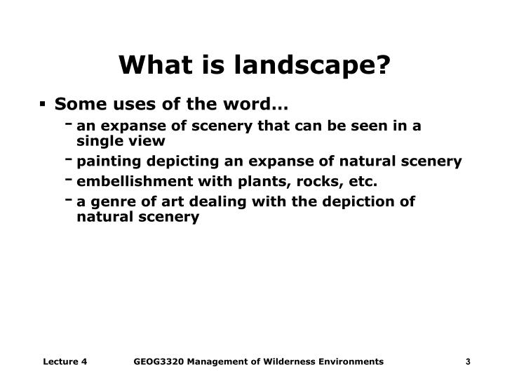 What is landscape