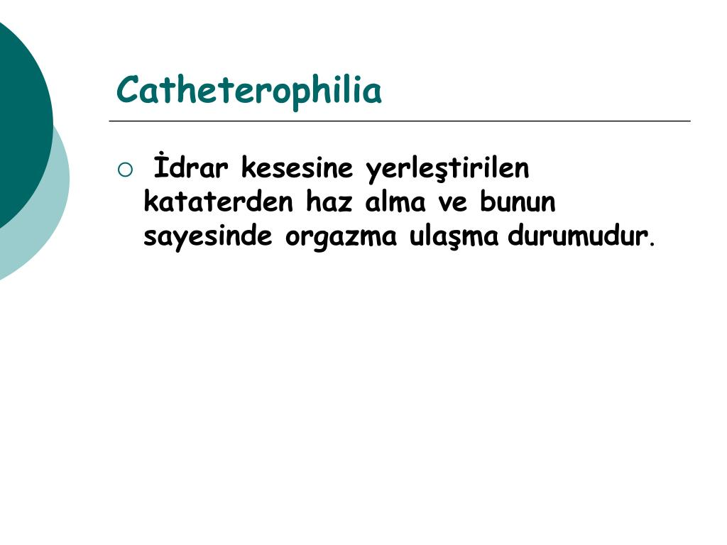 Catheterophilia
