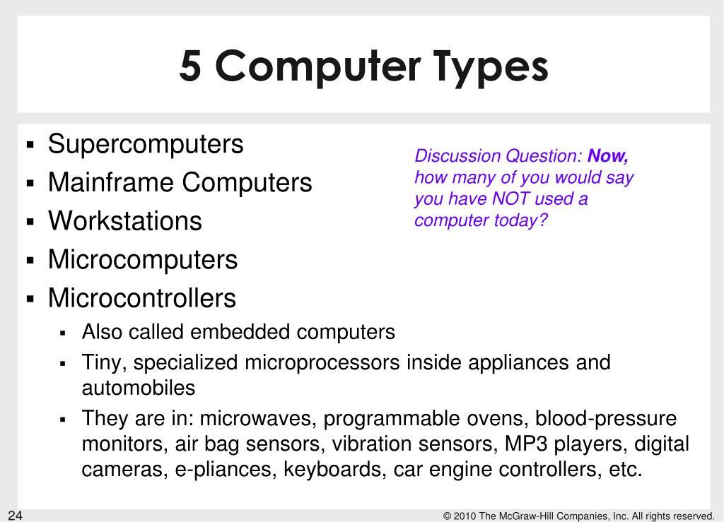 5 Computer Types