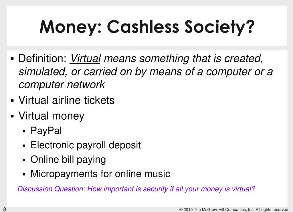 Money: Cashless Society?
