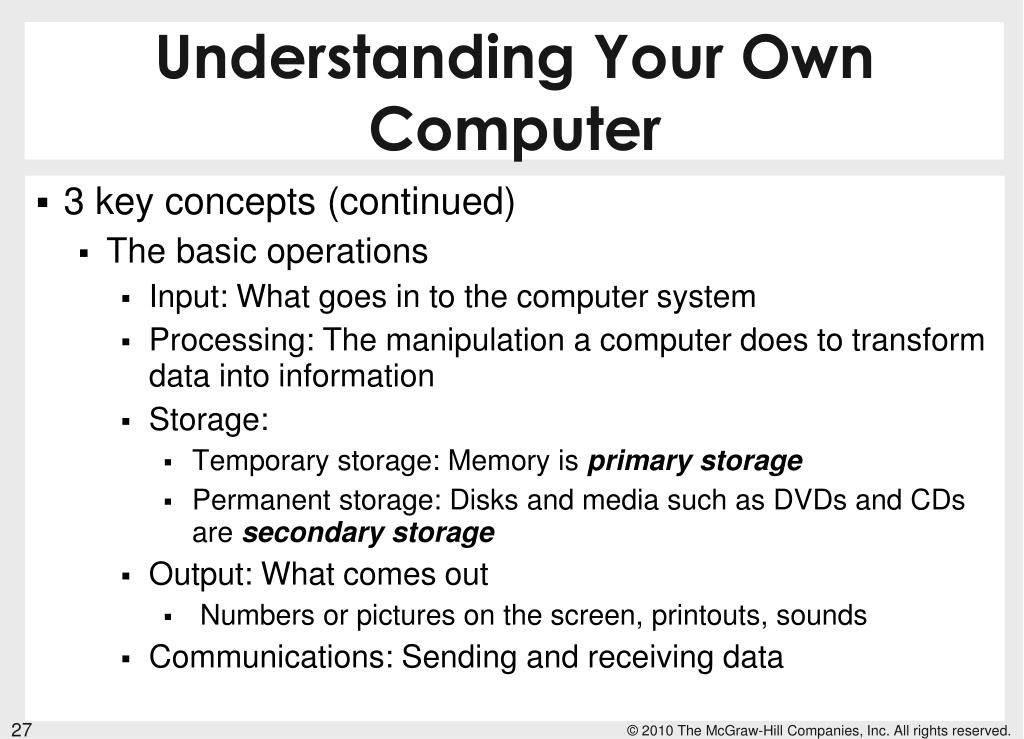 Understanding Your Own Computer
