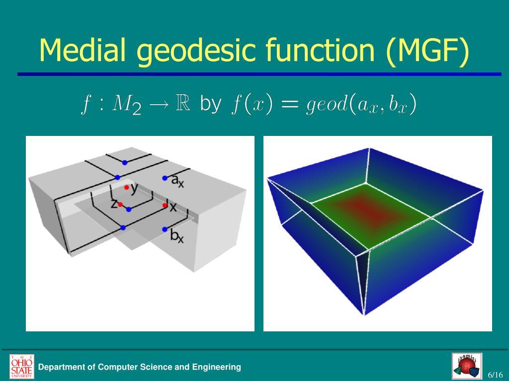 Medial geodesic function (MGF)