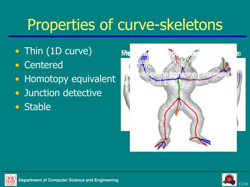 Properties of curve-skeletons
