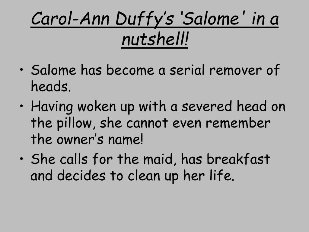 salome carol ann duffy essay