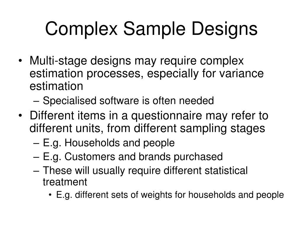 Complex Sample Designs