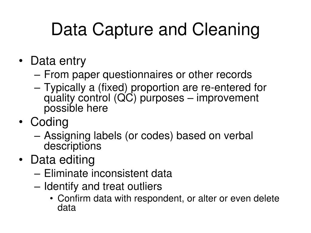 Data Capture and Cleaning