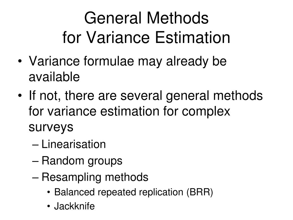 General Methods