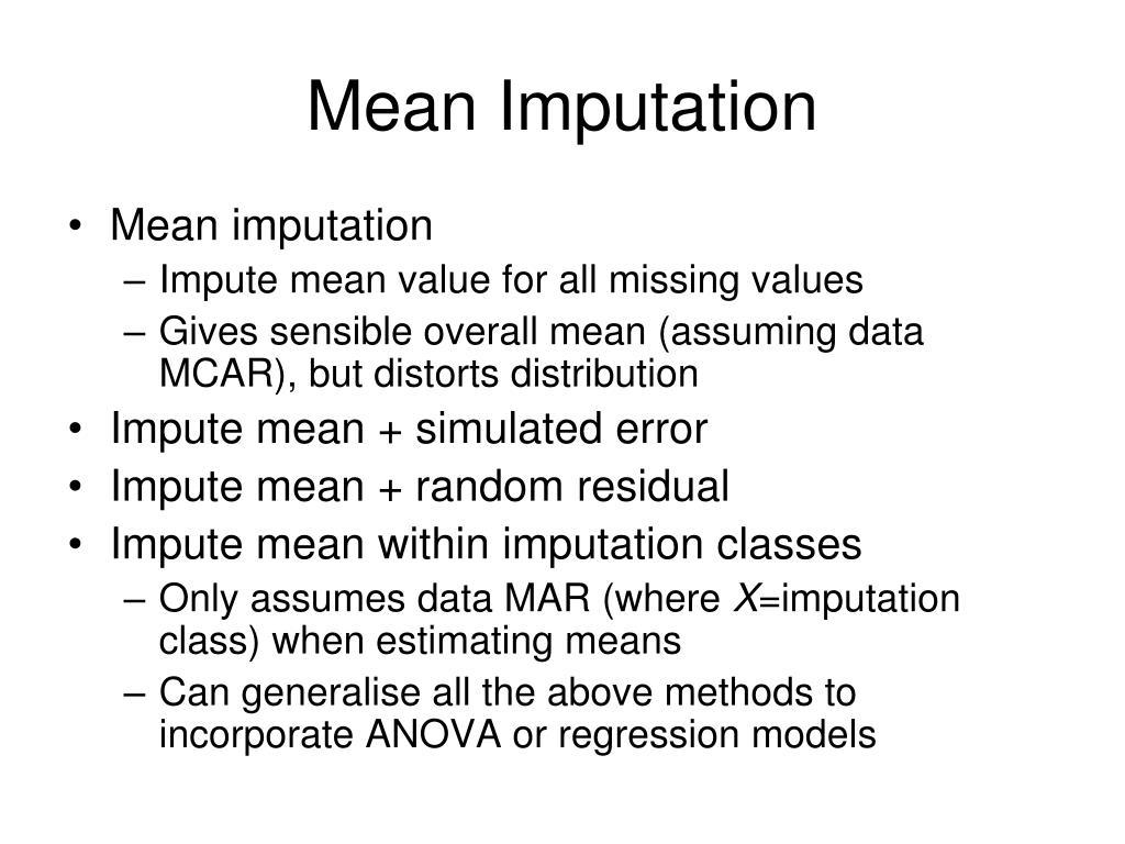 Mean Imputation
