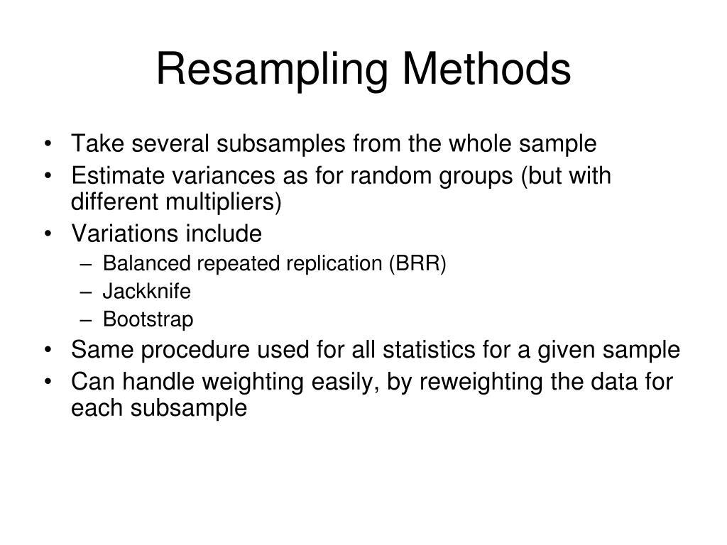 Resampling Methods