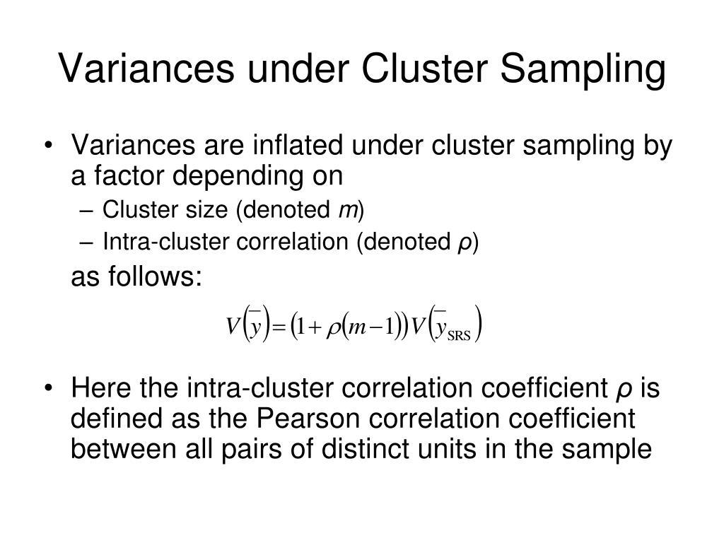 Variances under Cluster Sampling