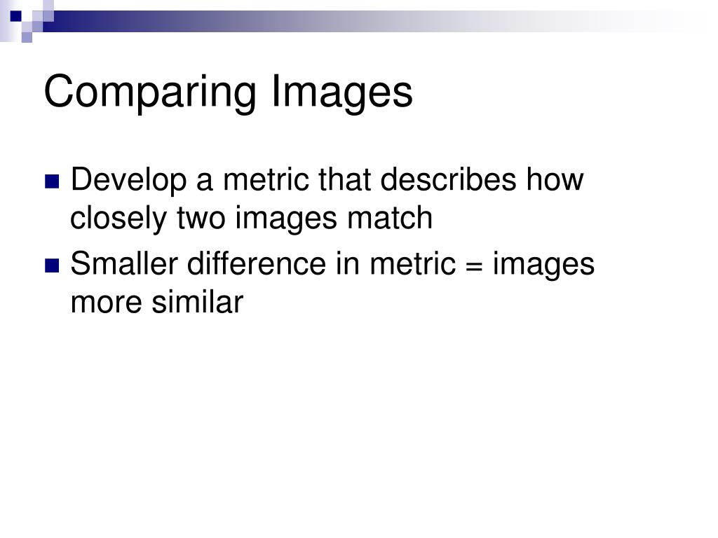 Comparing Images