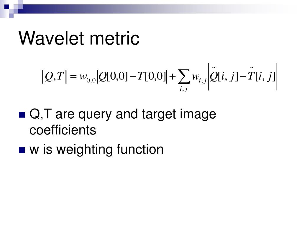 Wavelet metric