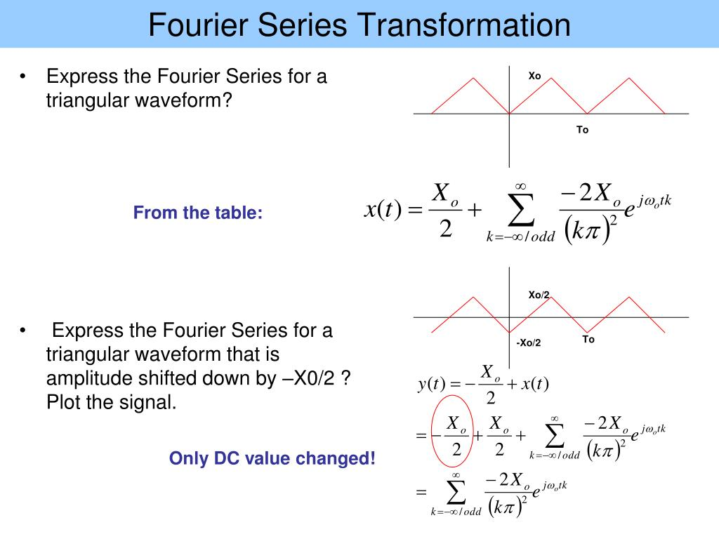 Ppt chapter 4 powerpoint presentation id 513156 - Fourier series transform table ...