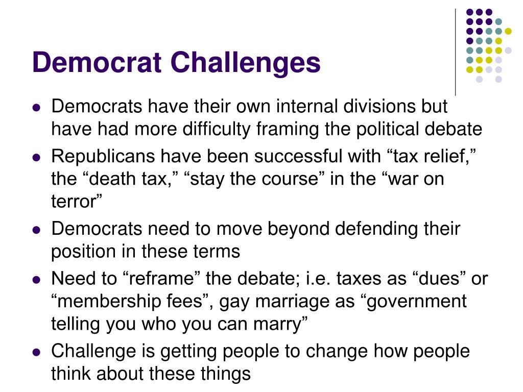 Democrat Challenges