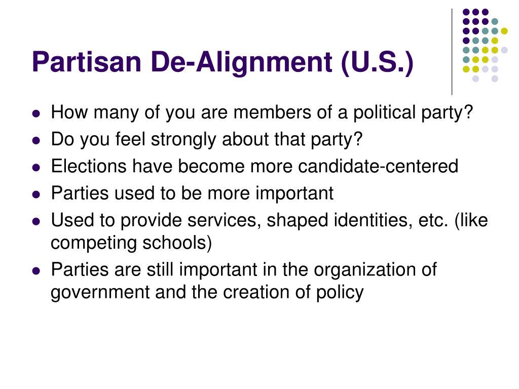 Partisan De-Alignment (U.S.)