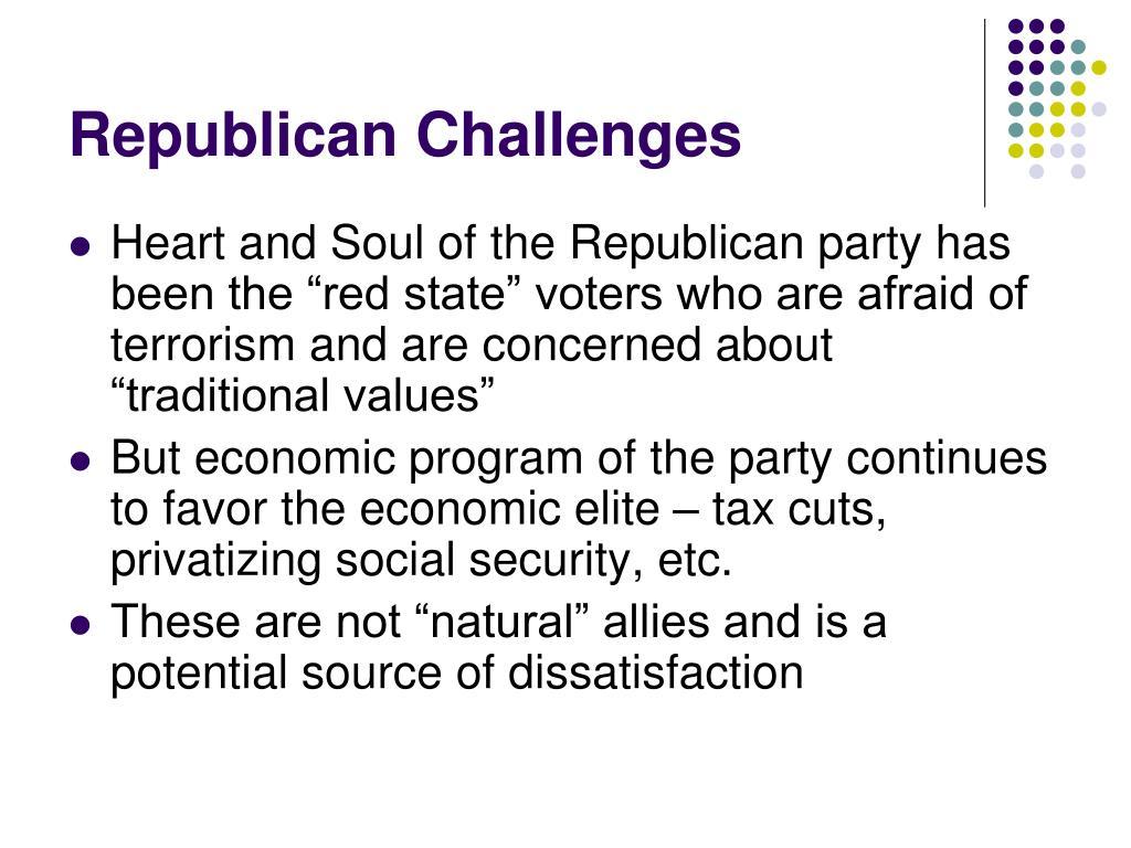Republican Challenges
