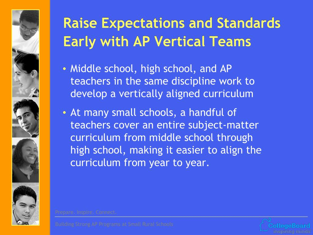 Raise Expectations and Standards Early with AP Vertical
