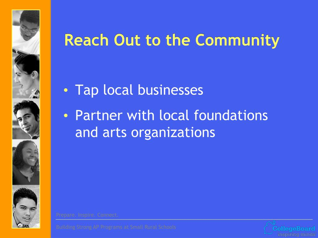 Reach Out to the Community