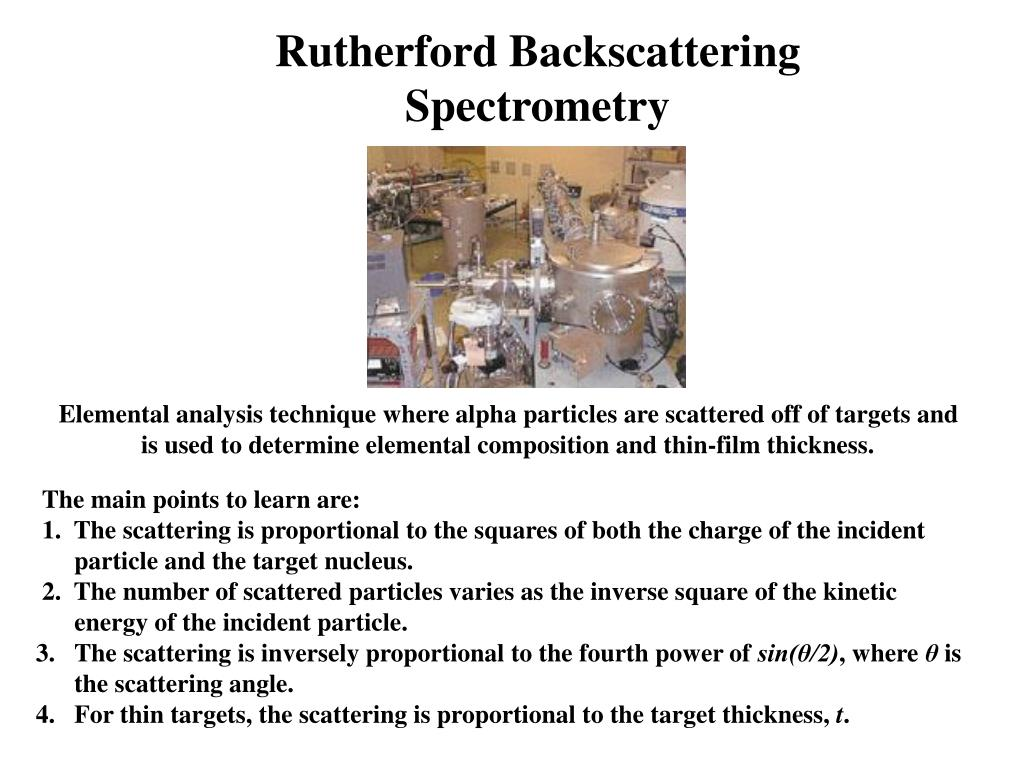 Rutherford Backscattering Spectrometry