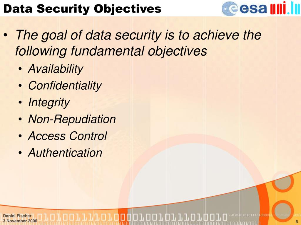 Data Security Objectives