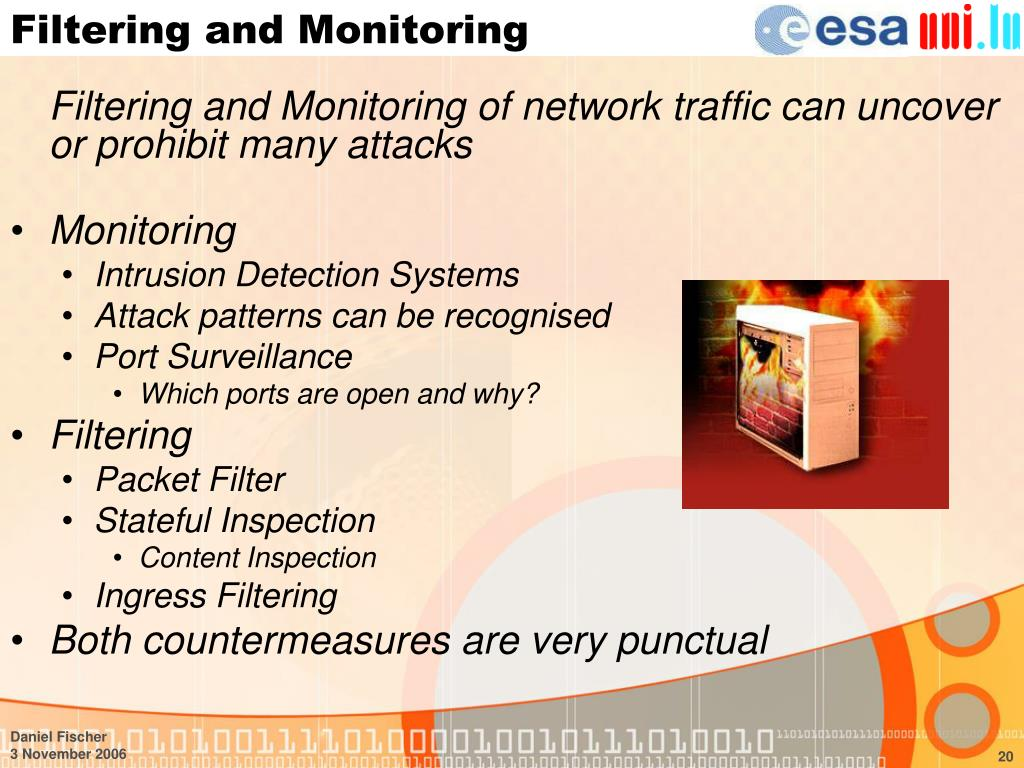 Filtering and Monitoring
