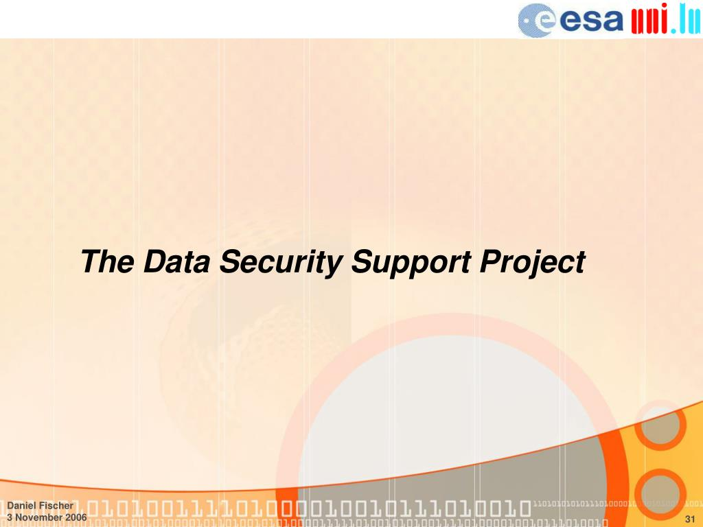 The Data Security Support Project