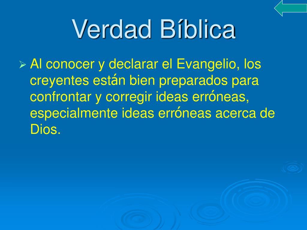 Verdad Bíblica
