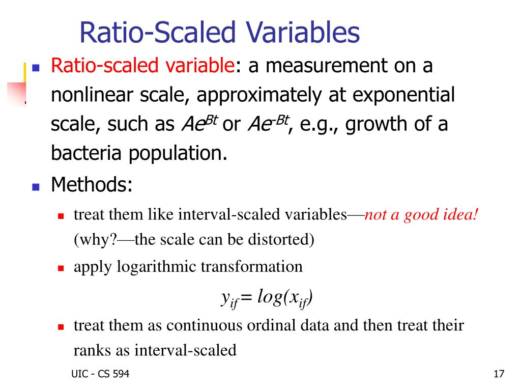 Ratio-Scaled Variables