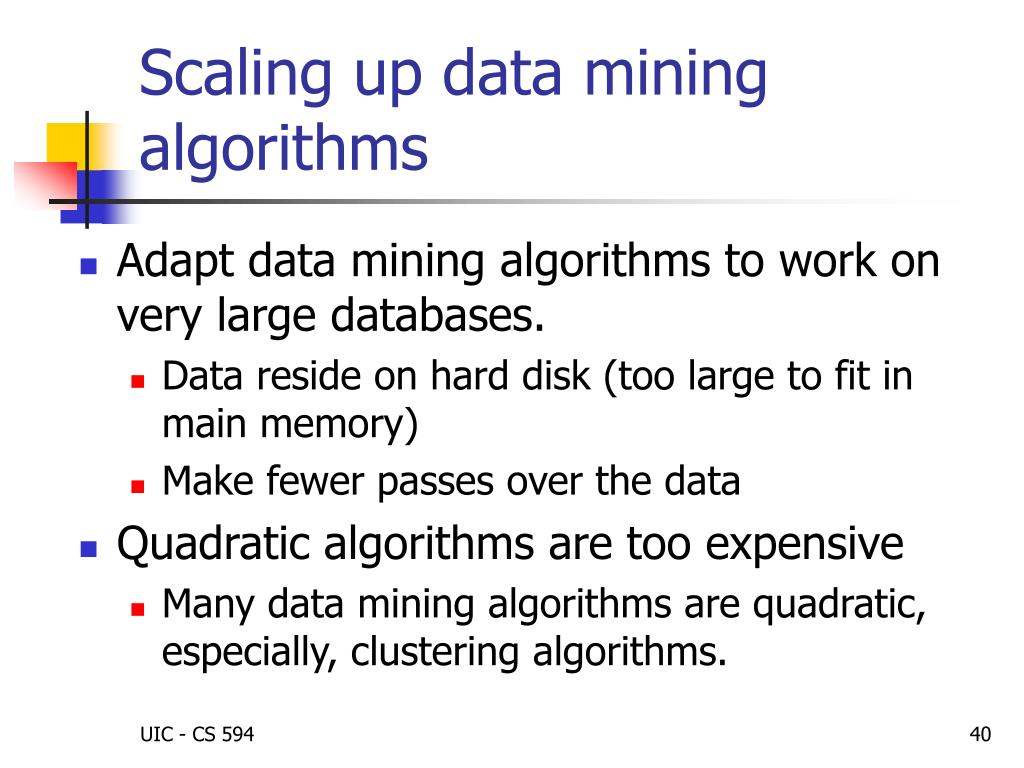 Scaling up data mining algorithms