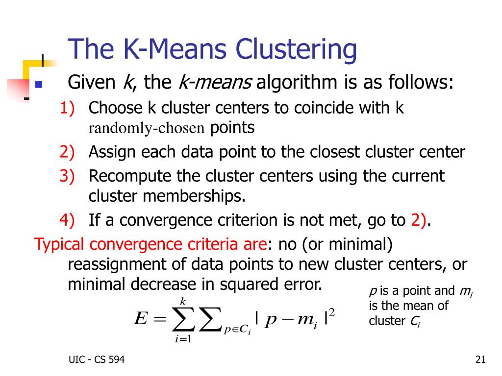 The K-Means Clustering