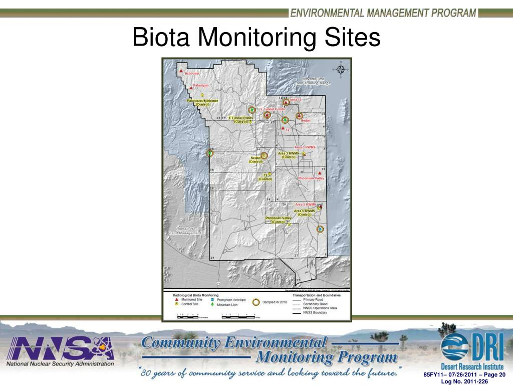 Biota Monitoring Sites