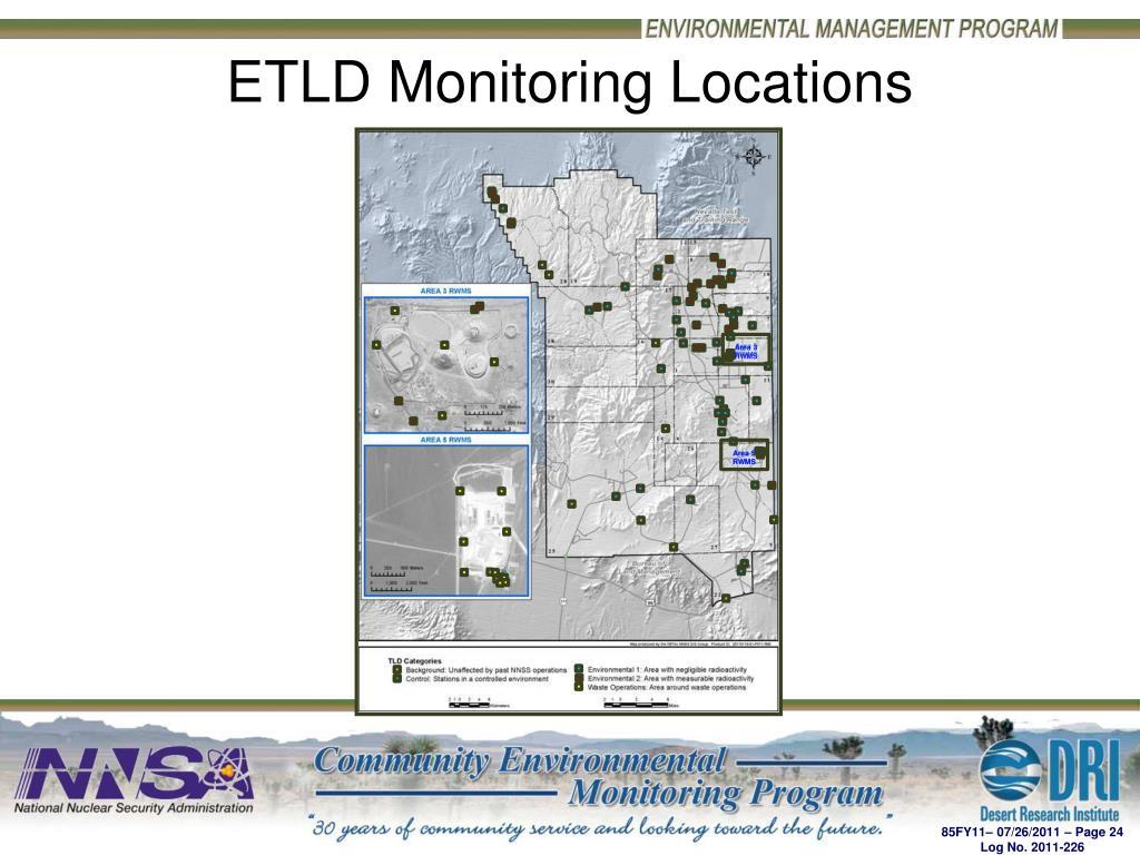 ETLD Monitoring Locations
