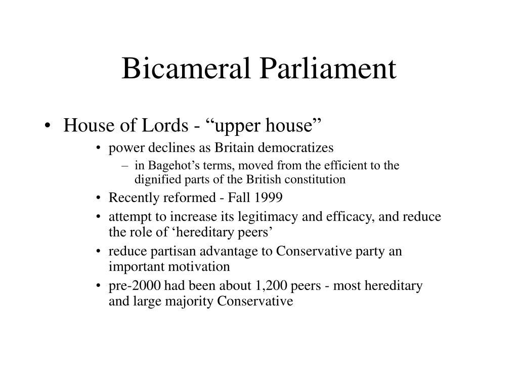 Bicameral Parliament