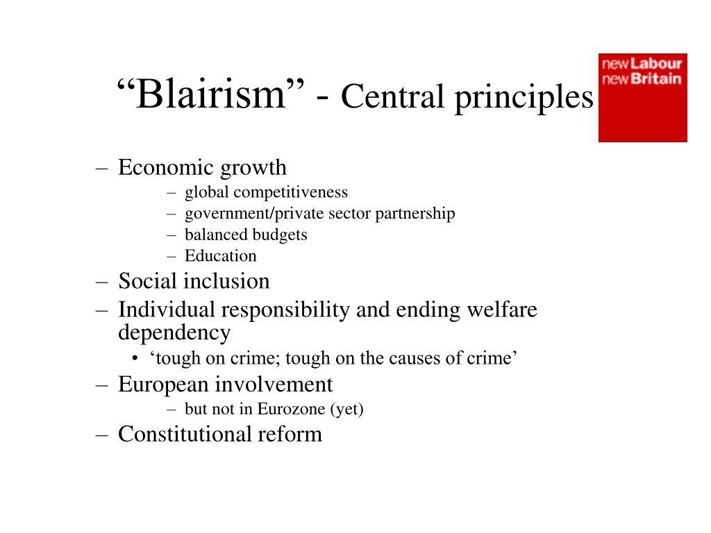 """Blairism"" -"