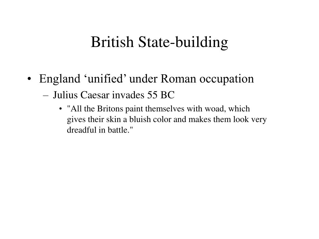 British State-building