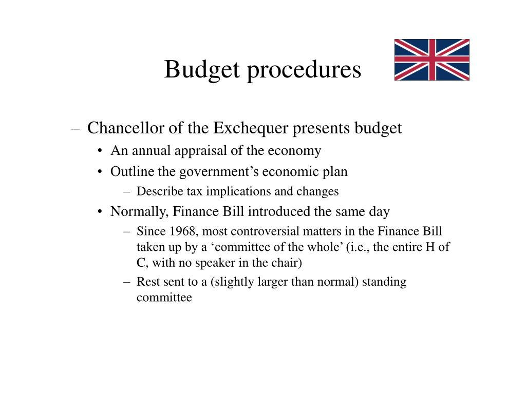 Budget procedures