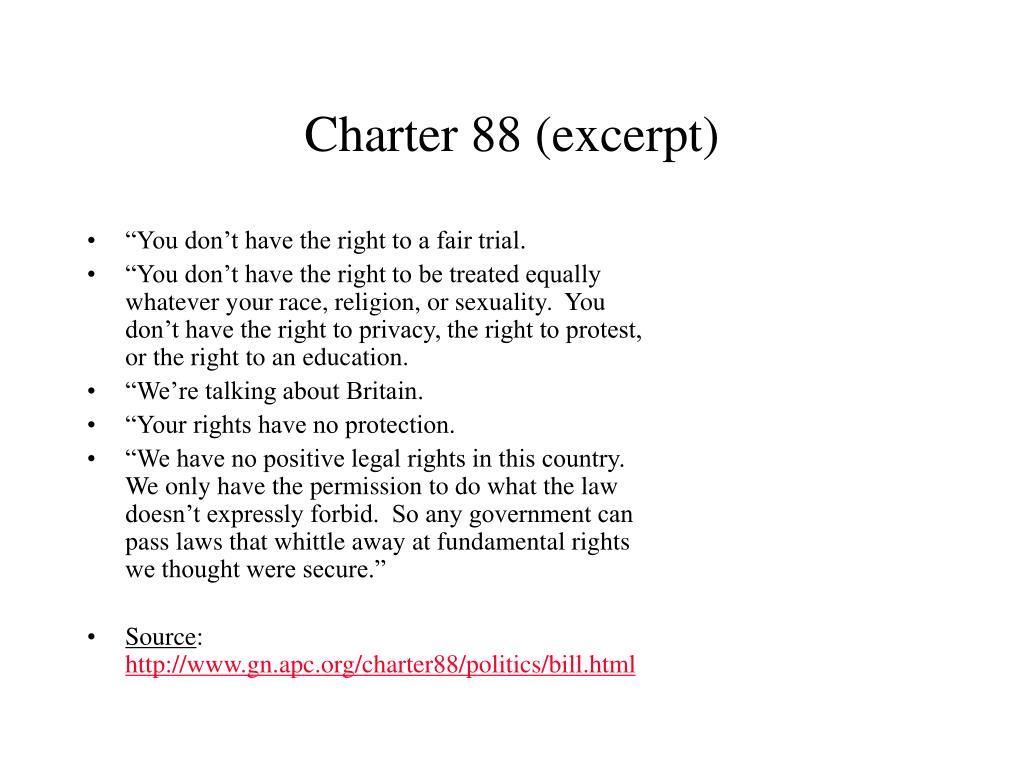 Charter 88 (excerpt)