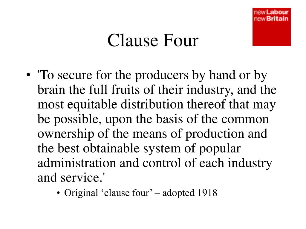 Clause Four