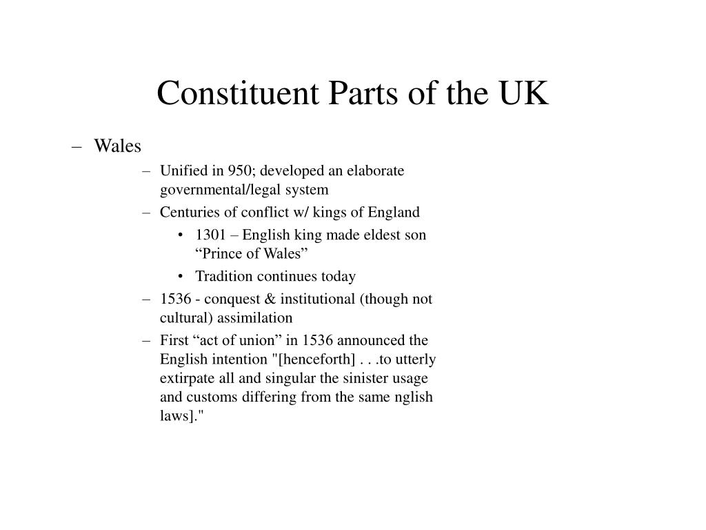 Constituent Parts of the UK